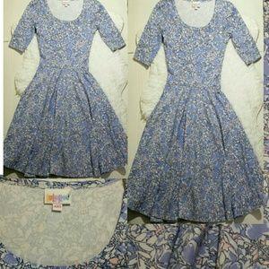 LulaRoe Nicole Floral Dress- Size XXS